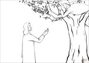 zacchaeus coloring page jesus asked zacchaeus to come coloring page free