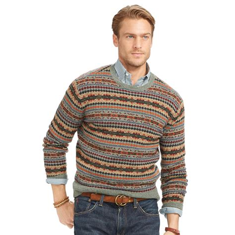 Sweater Polos polo ralph fair isle merino wool sweater for lyst