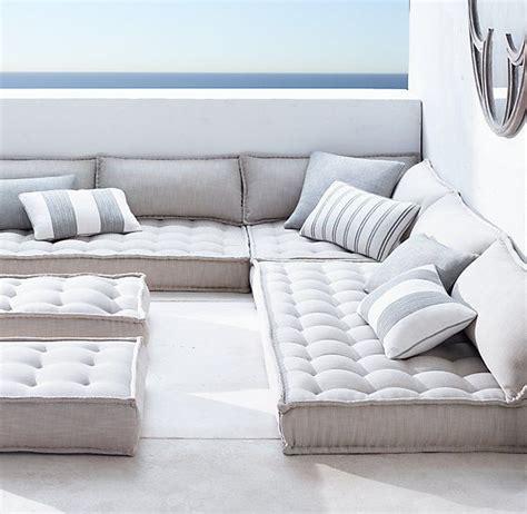 comfortable floor cushions restoration hardware tufted floor cushions c m