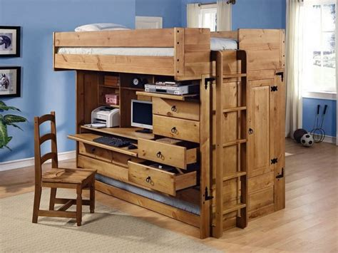 Bunk Bed With Desk And Dresser by Loft Beds With Storage Underneath For The Home Bunk