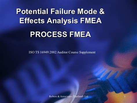 fmea potential failure mode and effects analysis ppt fmea process la