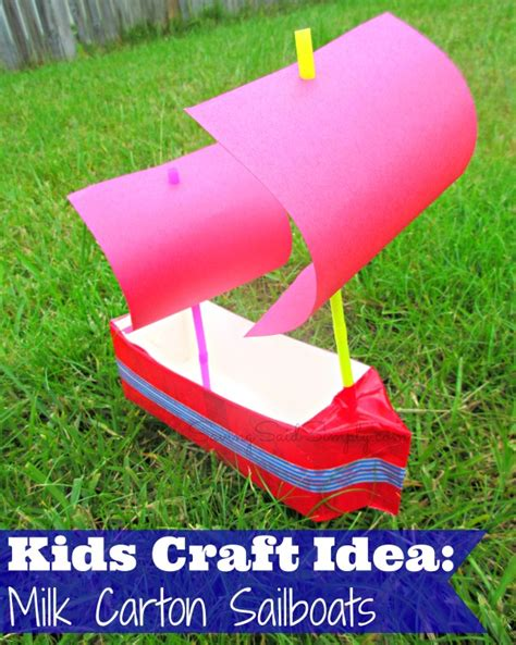 kid craft boats craft idea milk boats raising whasians