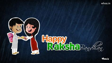 happy raksha bandhan cartoon wallpaper
