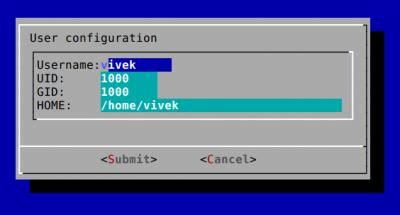 linux shell scripting tutorial a beginners handbook the form dialog for input linux shell scripting tutorial