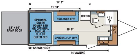 fifth wheel hauler floor plans hauler travel trailer floor plans 28 images 2016