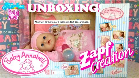 annabelle doll unboxing precious baby annabell unboxing from zapf creation