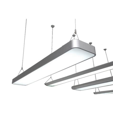 led suspension lighting system 1200mm 4ft stylish suspended led light silver anodised