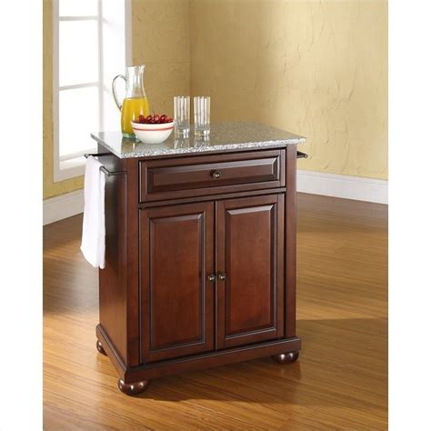 alexandria kitchen island crosley furniture alexandria solid granite top mahogany