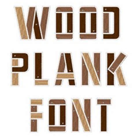 classification embroidery font wood plank font