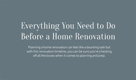 things you need for a house everything you need to do before a home renovation