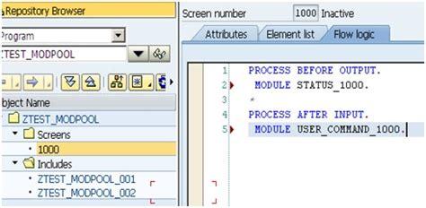 sap tutorial module pool sap netweaver blog step by step module pool program