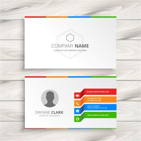 white business card template free white business card template vector free