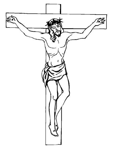 coloring page jesus cross 5 jesus christ crucifixion printable coloring pages for