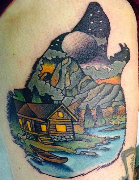 scenery tattoo designs 20 forest scenery tattoos