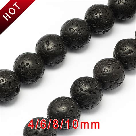 Gelang Lavastone 10 Mm 4 4 6 8 10mm 5strands lava jewelry diy volcanic rock semi bead