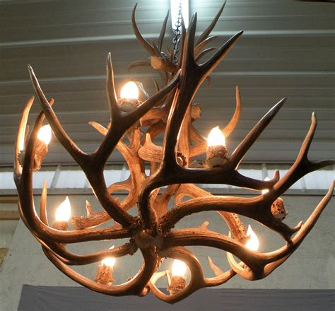 chandelier create   unique work  art  antler