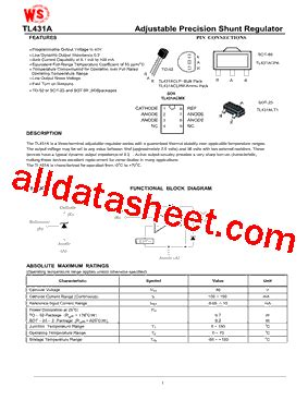 transistor w431 datasheet tl431a datasheet pdf wing shing computer components
