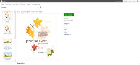 free microsoft office flyer templates free autumn themed printables or templates for microsoft