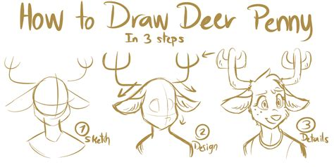 how to a deer tawog how draw to deer by namygaga on deviantart