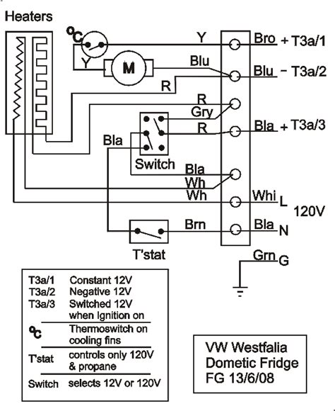 dometic three wire thermostat wiring diagram dometic