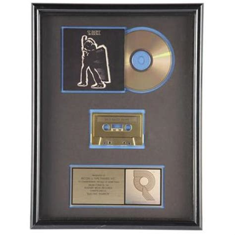 Cd Trex Electric Warrior t rex quot electric warrior quot riaa gold cd award