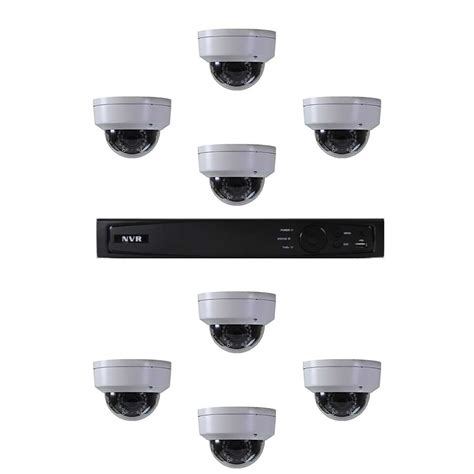 market pro nvr security system w 8 dome cameras vtailsource