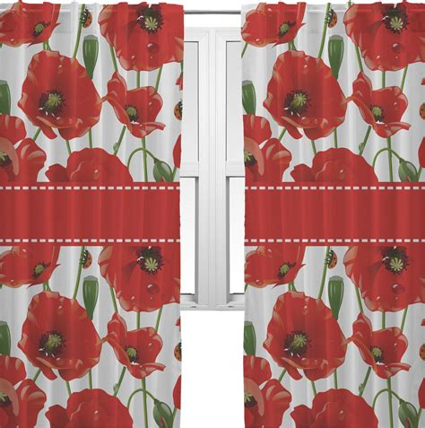poppies curtains 40 quot x84 quot panels unlined 2 panels per