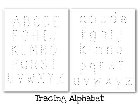free printable tracing alphabet letters a z alphabet tracing uppercase and lowercase nuttin but