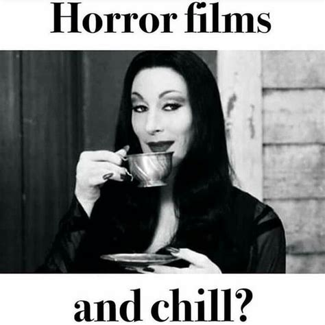 Movies And Chill Meme - horror films and chill horror humor pinterest win my