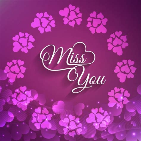 and miss you images beautiful miss you greeting card vector free