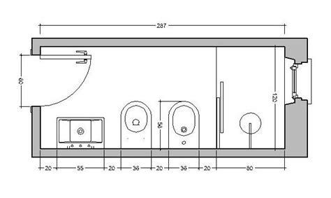 posizione sanitari bagno bagno stretto e lungo come ristrutturare e disporre