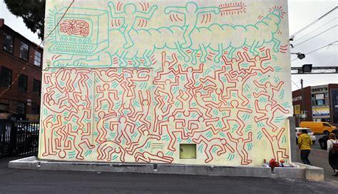 keith haring graffiti street art mural