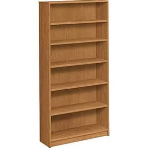 Staples Bookshelves Hon 174 1870 Series Wood Laminate Bookcase 6 Shelf Harvest