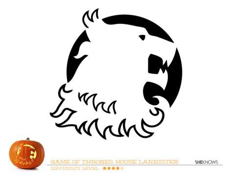printable pumpkin stencils game of thrones game of thrones house of lannister pumpkin carving