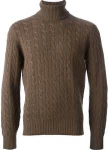 Sweater Elegan Turtle Navy brunello cucinelli cable knit turtle neck sweater where