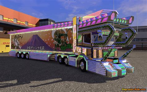 mod euro truck simulator 2 game modding scania dekotora v1 0 trailer for ets 2 187 download game