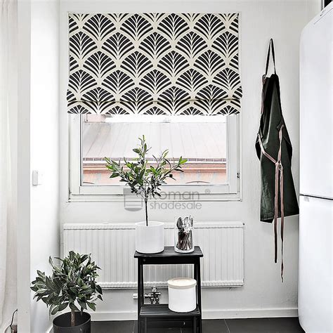 black patterned roman shades simple geometric pattern linen cotton black roman shade