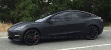 Tesla Grey Interior This Tesla Model 3 Prototype Spied On The Road Looks