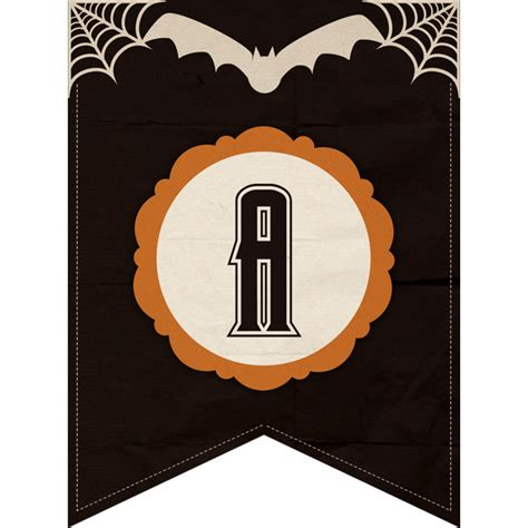 free printable halloween alphabet letters free halloween printable banner complete alphabet and