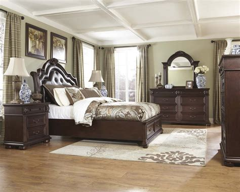 cheap king bedroom set king size bedroom set furniture image sets rustic cherry