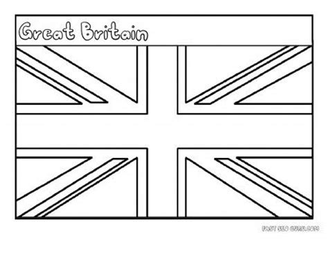 great britain flags and coloring pages on pinterest