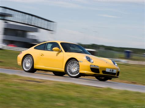 2009 Yellow Porsche 911 Carrera Wallpapers