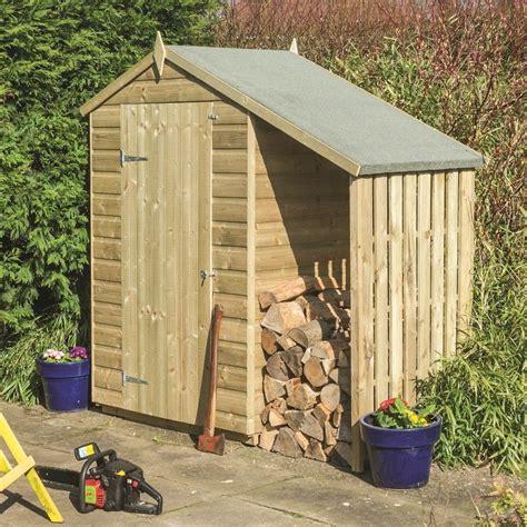 rowlinson oxford shed   lean   garden