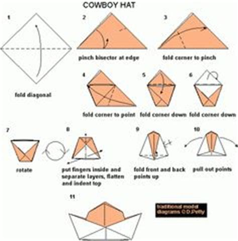 How To Make An Origami Hat - king arthur origami diagrams and crowns on