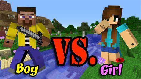 boy vs vs boy minecraft