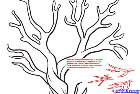 how to draw a doodle tree how to draw a dead tree step by step trees pop culture