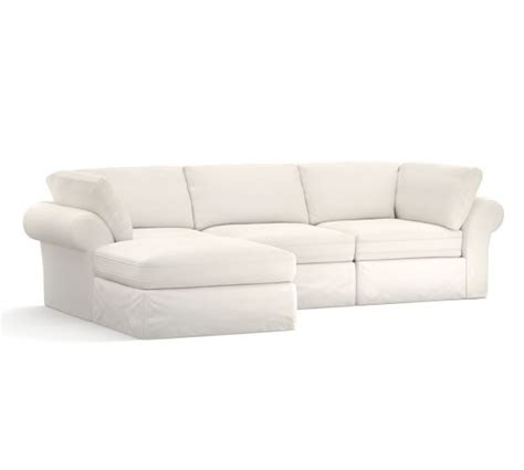 4 piece sectional slipcover pb air roll arm 4 piece sofa chaise sectional slipcover