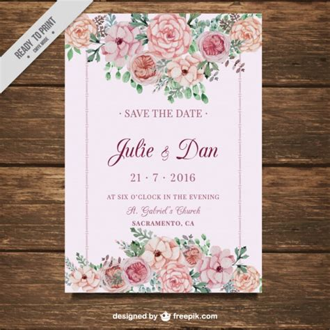 Wedding Card Flowers by Wedding Card With Flowers On A Pink Background Vector