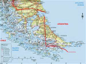 southern america map southern tip of south america map yartou chile
