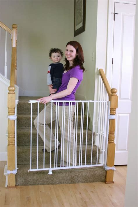 Safety Gates For Stairs With Banisters by 25 Best Ideas About Baby Gates Stairs On Baby Gate Cheap Baby Gates And Baby